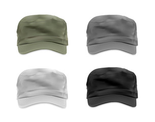 Military cap template set
