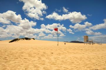 Wyspy kanaryjskie, Fuerteventura, Corralejo,Hiszpania, plaża