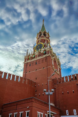 Спасская башня Московского Кремля