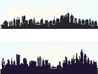 City background with a lots of buildings