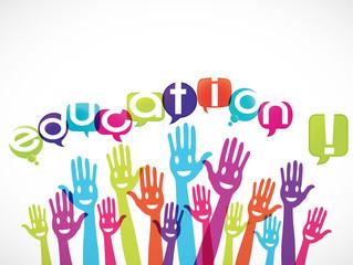 groupe mains souriantes : education !