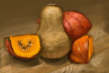 Pumpkins - digital painting