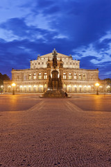 Dresden - Germany - Semper opera at twilight