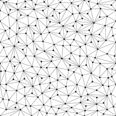 Polygonal background, seamless pattern, lines and circles