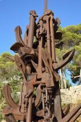 Skulptur aus Schiffsankern