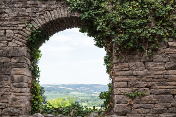 Arched View from France's Cordes-sur-Ciel Wall mural