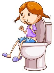 Girl and toilet
