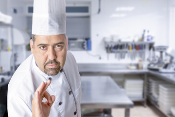 the master chef showing ok sign