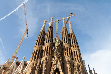 Sagrada Familia church, Barcelona, Spain.