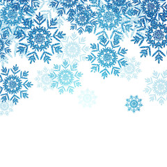 Vector Christmas Design with Snowflakes