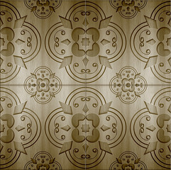 Wood Abstract Background, a beautiful wood carving texture