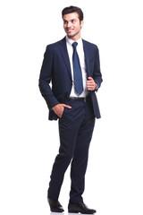 young business man walking