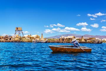 Rowboat on Lake Titicaca