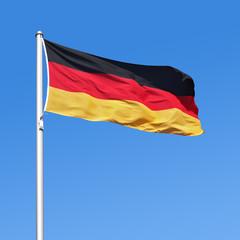 Wehende Flagge von Deutschland