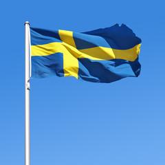Wehende Flagge von Schweden