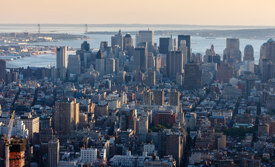Fotomurales - Aerial view of Downtown Manhattan, NYC.