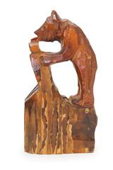 Wooden statuette of bear