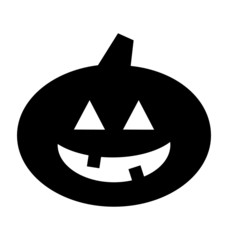 Halloween Pumpkin Jack-o-Lantern Silhouette