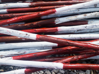 Red and white wood