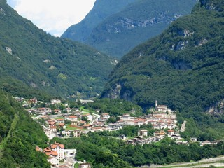 Castellavazzo Village Italy Aerial