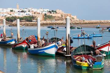 Foto op Canvas Marokko Barche