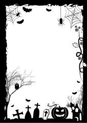 Holiday illustration on theme of Halloween