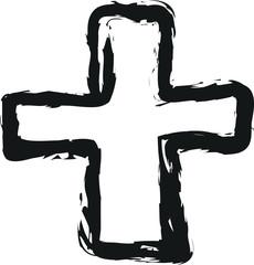 doodle cross symbol
