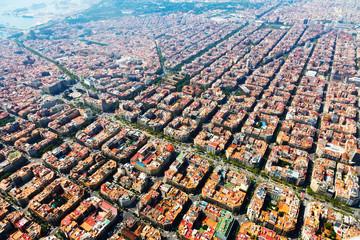 Autocollant pour porte Barcelona Aerial view of Barcelona, Catalonia
