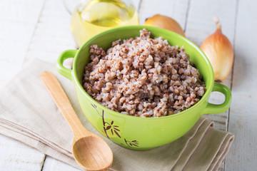 Buckwheat  in ceramic bowl