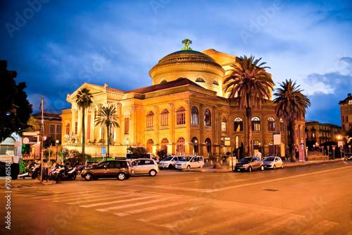 Teatro Massimo, opera house in Palermo. Italy.\