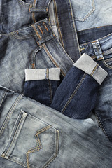 jeans collection close up