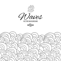 Black and white waves backdrop