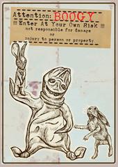 Halloween placard - Hand drawings