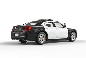 Police car - far back view