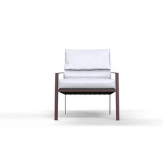 White armchair on white background