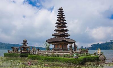 Pura Ulun Danu temple on the lake Beratan. Bali, Indonesia