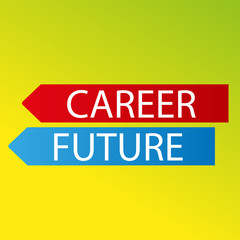 vector color arrows career future on fresh background