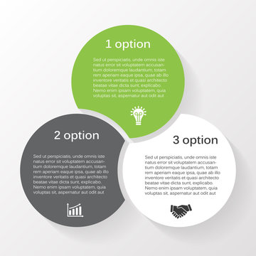Vector circle infographic diagram 3 options