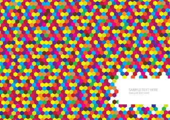 colorful vector mosaic tiles background