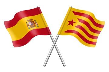 Banderas: España y Cataluña, Estelada roja
