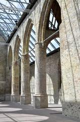 Interior of old Dutch monastery church