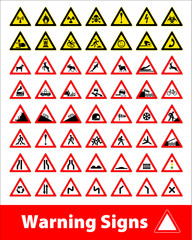 Warning sign symbol. Set design element.