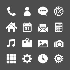 telephone application icon set, vector eps10
