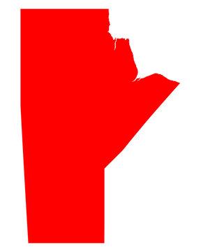 Karte von Manitoba