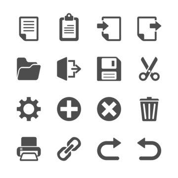 toolbar icon set, vector eps10
