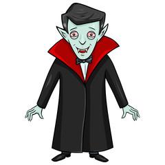 Vector Halloween Character - Smiling Vampire.