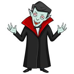 Vector Halloween Character - Evil Attacking Vampire