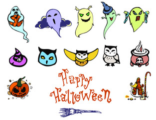 Happy Halloween Cute Set