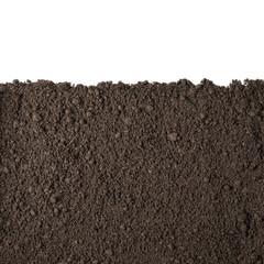 Fototapeta Soil section texture isolated on white obraz