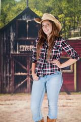 Pretty Teen cowgirl